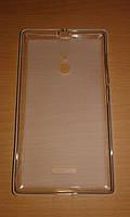 Силиконовый чехол накладка Nokia Lumia 640 XL белая, прозрачная