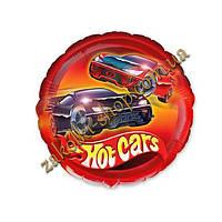 Фольгированные воздушные шары FLEXMETAL Испания, модель 402543, форма:круг Hot cars Горячие тачки, 9 дюймов/23