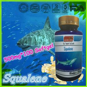 Антиоксидант для печени Сквален (Squalene экстракт печени глубоководной акулы). Мягкие Капсулы 100шт./упак.