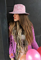 Розовая шляпа феодора в нежный розовый цветочек