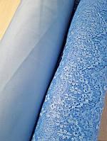 Гипюр стрреснички голубой,купить ткань гепюр реснички голубой,гепюр реснички оптом украина, ткани АРТ ТЕКСТИЛЬ