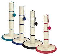 Когтеточка  драпак на круглой подставке с игрушкой Трикси TX-4309   31*7*50см