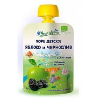 Детское Пюре Яблоко и Чернослив органическое, 90 гр, ТМ Fleur Alpine