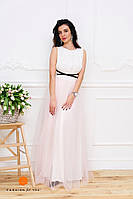 Женское красивое платье с ленточкой