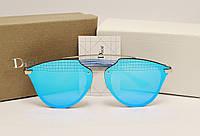 Женские солнцезащитные очки Dior Reflected Lux голубой цвет