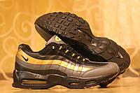 Кроссовки Nike 95 черные в золоте 1830