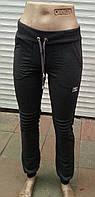 Большие размеры женские молодежные спортивные брюки двухнитка на манжете