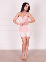 Пижамка с шортиками для кормления грудью 48 L
