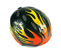"Защитный шлем -""Flames"" цвет черный, размер М, L"
