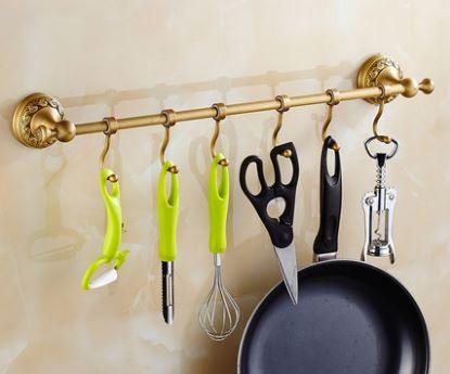 Органайзер настенный кухонный бронза на для принадлежностей