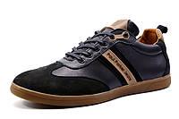 Туфли мужские спортивные Falcon Paul Parker Jeans, натуральная кожа, черные, р. 40 41 42 43