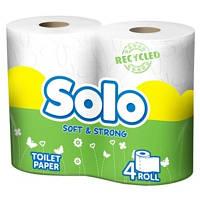 Туалетная бумага Solo рециклинг белая 4 шт.