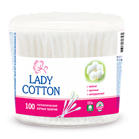 Ватные палочки Lady Cotton 100шт. в круглой банке