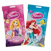 Влажные салфетки Smile Disney Принцессы 15 шт.