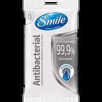 Влажные салфетки Smile Antibacterial с D пантенолом 15 шт.