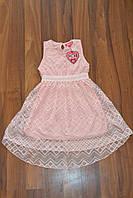 Нарядное гипюровое платье.Размеры140-164 см,Фирма S&D.Венгрия