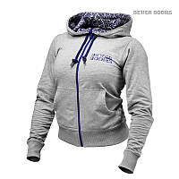 Женская толстовка Better Bodies Soft Logo Hoodie, Grey Melange