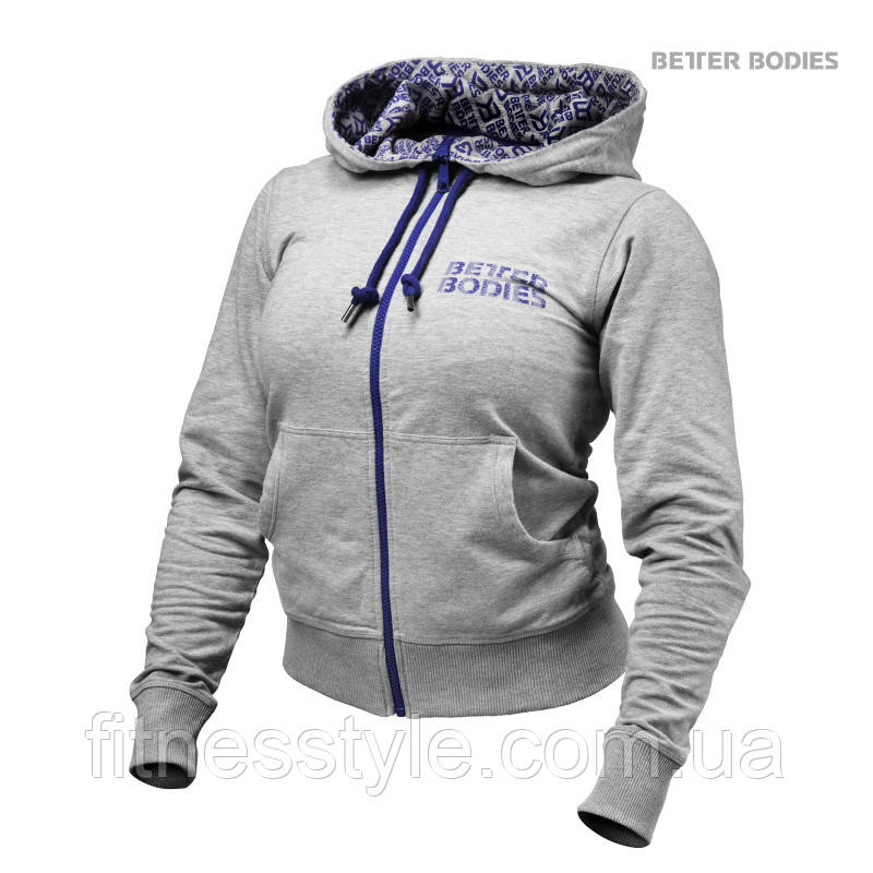 9e48338f Женская толстовка Better Bodies Soft Logo Hoodie, Grey Melange -  Fitnesstyle Спортивная одежда Better Bodies