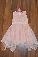 Нарядное гипюровое платье.Размеры 116-140 см,Фирма S&D.Венгрия