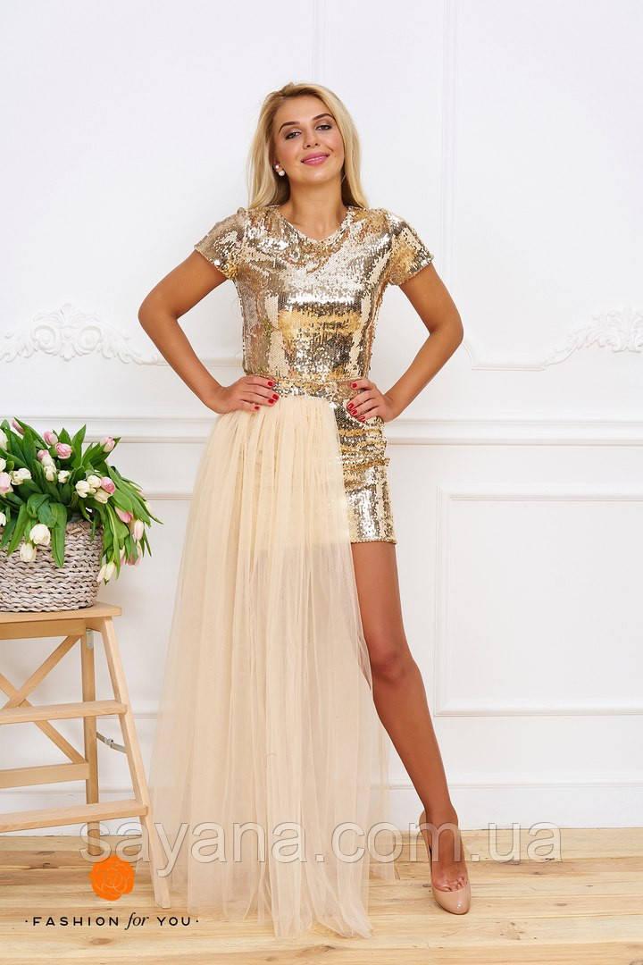 56eeb0225c0ed4 Женское платье-двойка со съемной юбкой. Тс-15-0317, цена 1 280 грн ...
