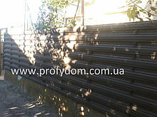 Паркан металевий, евроштакетник, 0.45 мм, поліестер матовий, Китай, Україна, Польща