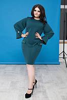 Повседневное короткое платье размер 50, 52, 54, 56 (К15662)