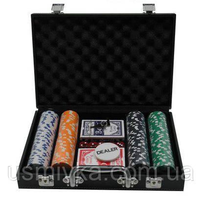 Покерный набор 200 фишек в коженном кейсе