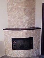 Портал угловой облицован гипсовым камнем