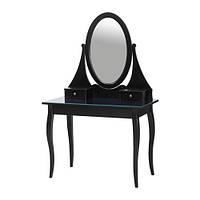 ХЕМНЭС Туалетный столик с зеркалом, чёрный