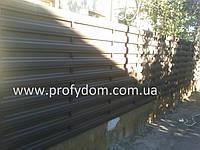 Штакетник металлический, евроштакетник, 0.5 мм, полиэстер матовый, Польша, Германия, Корея