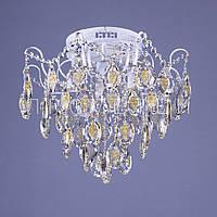 Хрустальная люстра с LED подсветкой P5-E1269/4+4/WT+FG