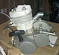 Двигатель веломотор в сборе с ручным стартером 80 сс
