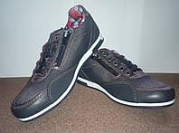 Детские джинсовые туфли мокасины Waykers чёрные