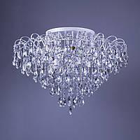 Хрустальная люстра, классическая на 15 лампочек P5-L0245/15/WT+CH