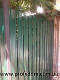 Штакетник металлический, евроштакетник, двухсторонний, 0.45 мм, полиэстер матовый, Украина, Китай, Польша, фото 5