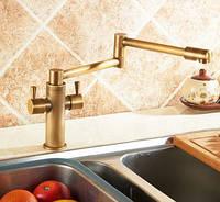 Смеситель кухонный двухрычажный для кухни мойки, фото 1