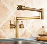 Смеситель кухонный двухрычажный для кухни мойки, фото 3
