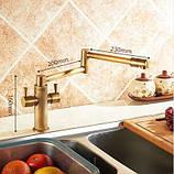 Смеситель кухонный двухрычажный для кухни мойки, фото 4