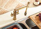 Смеситель кухонный двухрычажный для кухни мойки, фото 5