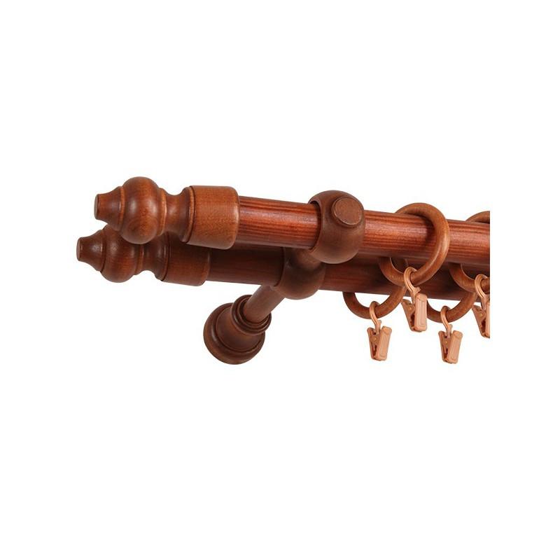 карниз Mardom деревянный паола вишня двойной 2828 мм 160 см 6222