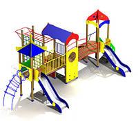 Детский игровой комплекс и домик, 2 горки, турник  FX35