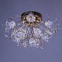 Люстра с галогенными лампочками и элементами хрусталя P5-Y0681/13 FG/LOW