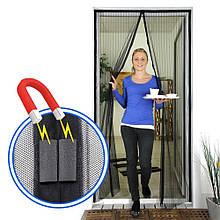 Москітна сітка на двері антимоскітна штора на магнітах Magic Mesh 210см х 100см