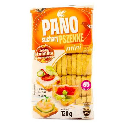 Пшеничные сухарики Pano Suchary Pszenne mini 120г, фото 2