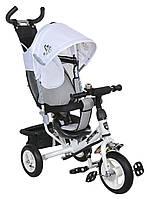 Детский велосипед трехколесный Mars Mini Trike надувные LT-950D бело-серый