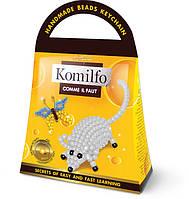 Брелок из бисера Комильфо 'Мышка+бабочка' (Кб-01-05)