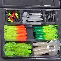 Рыболовный набор приманки 35 штук+10 штук крючков