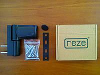 Петля дверная Reze 90 3D Alfa (до 80 кг.), коричневая.