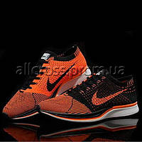 Кроссовки мужские Nike Flyknit Racer Black Orange
