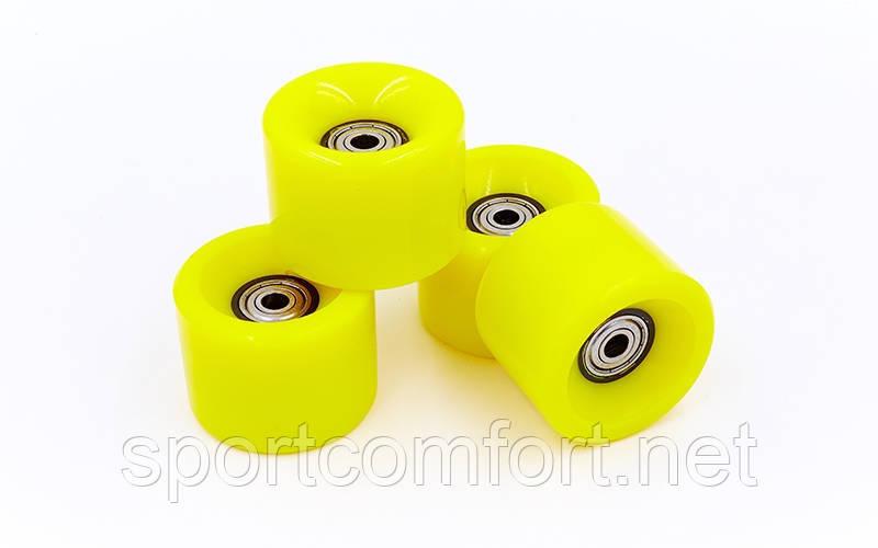 Колеса для пенниборда (скейтборда penny) (60х45 мм) 4 шт поліуретан з підшипниками